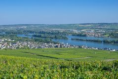 Ruedesheim,Rhine River,Germany Stock Photos