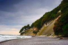 ruegen de l'Allemagne de falaise de craies Photo stock