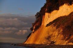ruegen de l'Allemagne de falaises de craie image stock