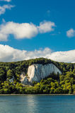 Ruegen island chalk cliff over the Baltic sea Royalty Free Stock Images
