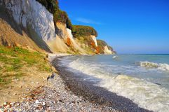 Ruegen chalk cliffs in autumn stock photography