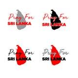 Ruegue para el sri langka_04 stock de ilustración