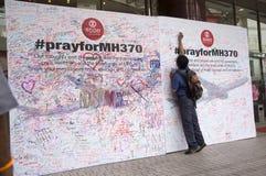 Ruegue para MH370 Imágenes de archivo libres de regalías