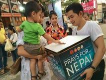 Ruegue para Nepal Fotografía de archivo