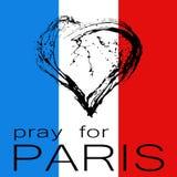 Ruegue para París Imagenes de archivo