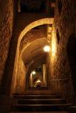 Ruelle antique dans le quart juif, Jerusale photo stock