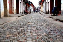 Ruelle antique de Zhuji en Chine image libre de droits