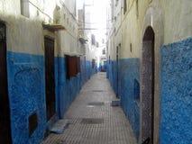 Ruelle bleue, Kasbah des Oudayas (Rabat, Maroc) Royalty Free Stock Photography