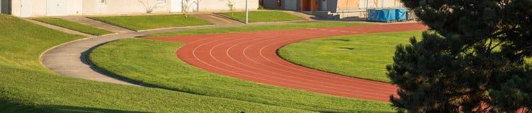 Ruelle courante de sprint dans le stade image libre de droits