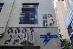 Ruelle d'AC-DC à Melbourne, Australie photos libres de droits