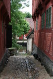 Ruelle dans le vieux village Images stock