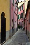 Ruelle de jument d'Al de Monterosso, Cinque Terre, La Spez Image stock