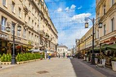 Ruelle de Kamergersky au centre de Moscou Vieux centre de la ville piétonnier Photos libres de droits