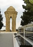 Ruelle de martyres à Bakou, Azerbaïdjan Photos stock