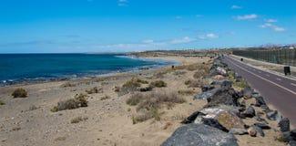 Ruelle de vélo à Lanzarote Images stock