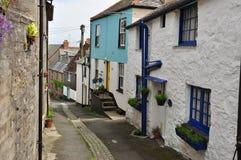 Ruelle de village de Newlyn Les Cornouailles, Angleterre, R-U image libre de droits