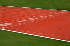 Ruelle de voie d'athlétisme Photo libre de droits