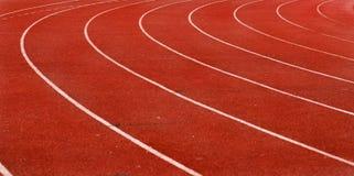 Ruelle de voie d'athlétisme Image libre de droits