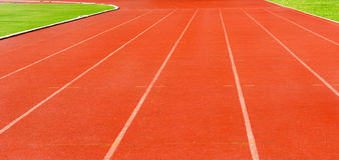 Ruelle de voie d'athlétisme Photos stock