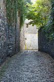 Ruelle des Freres Mineurs in Huy Royalty-vrije Stock Afbeelding