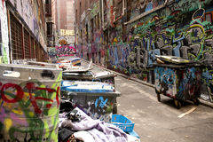 Ruelle du graffiti de Melbourne Photo libre de droits