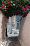 Ruelle en île grecque Photos libres de droits