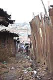 Ruelle et ordures, Kibera Kenya Photos stock