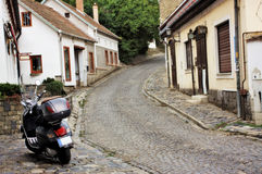 Ruelle européenne, Szentendre Hongrie Image stock