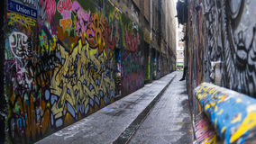 Ruelle Melbourne des syndicats Photo libre de droits