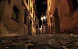 Ruelle par nuit Image libre de droits