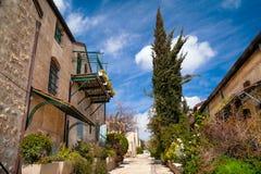 Ruelle tranquille de Jérusalem photographie stock libre de droits