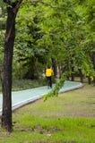 Ruelle verte de vélo en parc Photographie stock libre de droits
