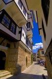 Ruelles étroites de canalisation, Ohrid Photos libres de droits