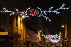 Ruerestaurant-Rue cler lizenzfreies stockbild