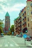 Rues à Gothenburg du centre Image stock