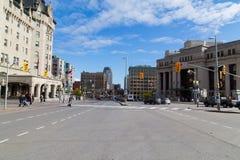 Rues à Ottawa Photos libres de droits