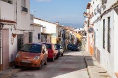 Rues étroites de l'Espagne du sud photo stock