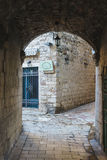 Rues étroites de la ville-forteresse antique du méditerranéen Voyage à Monténégro, Kotor Image libre de droits