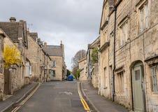 Rues étroites de Painswick connues sous le nom de reine du Cotswolds photographie stock libre de droits