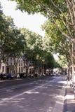 Rues accidentées d'été de la ville française Images libres de droits