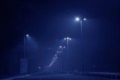 Rues allumées de la Nouvelle Delhi Images libres de droits