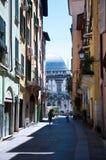 Rues antiques dans la partie antique de Brescia images stock