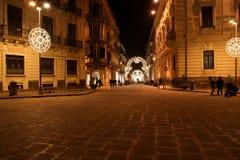 Rues antiques de Syracuse, Sicile, Italie Photographie stock libre de droits