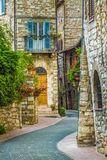 Rues avec du charme d'Assisi Image stock