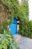Rues bleues de Sidi Bou Said en Tunisie Images stock