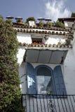 Rues, coins et petits groupes de Marbella l'espagne image stock