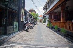 Rues commerciales d'Ubud Images libres de droits