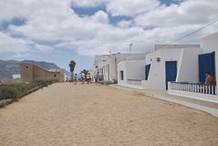 Rues d'île de Graciosa de La Photos stock