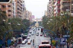 Rues d'Alicante Image stock