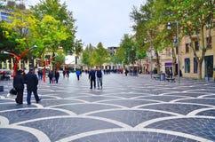 Rues d'automne de Bakou images libres de droits